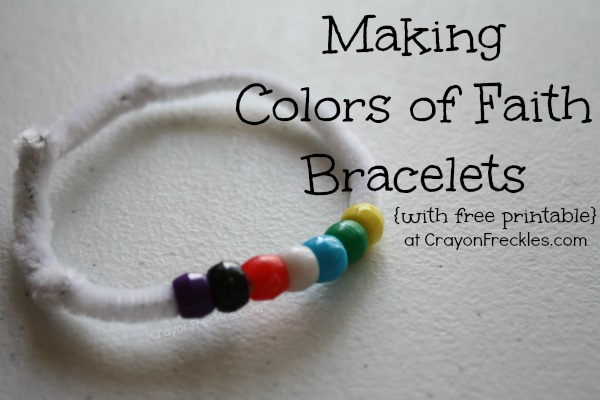 image relating to Salvation Bracelet Printable named Crayon Freckles: hues of religion Christian bracelet