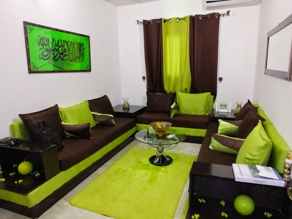Salon marocain salon marocain contemporain vert for Salon oriental gris