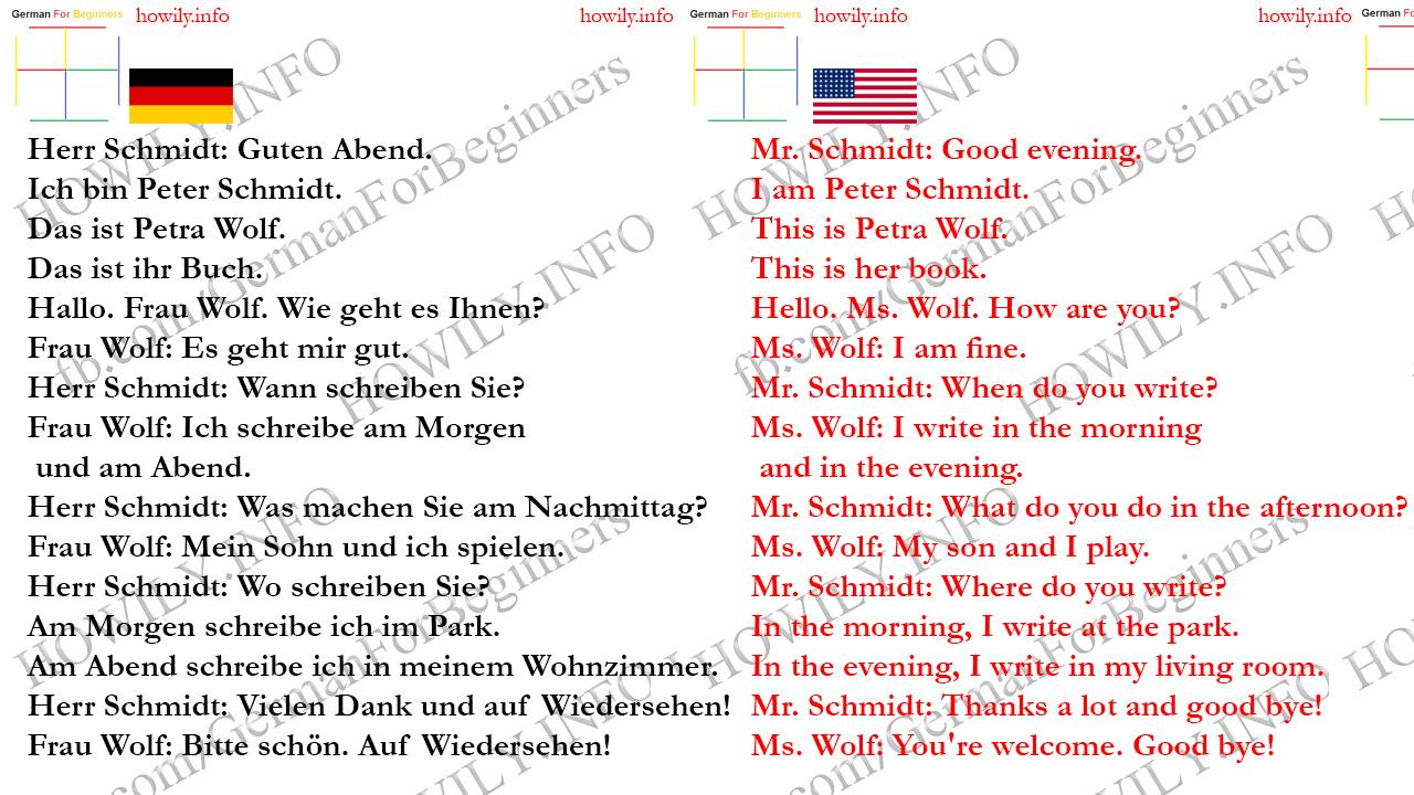 How Do I Spell Good Morning In German : Lektion german for all deutsch f�r alle