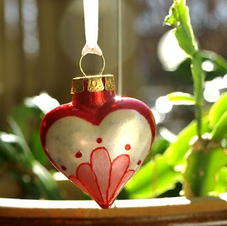 Art Nouveau and Vine of Hearts Ornament g0140 by reflections
