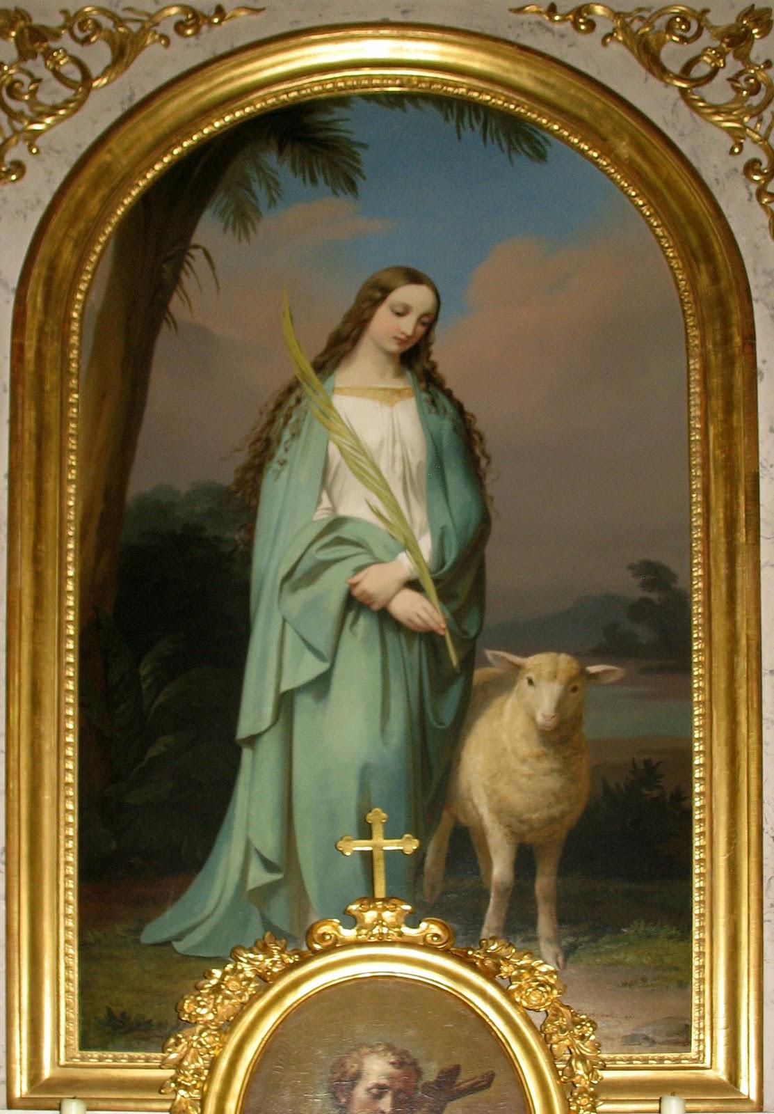 Sant'Agnese, vergine e martire dans immagini sacre Saint-Agnes-Deschwanden