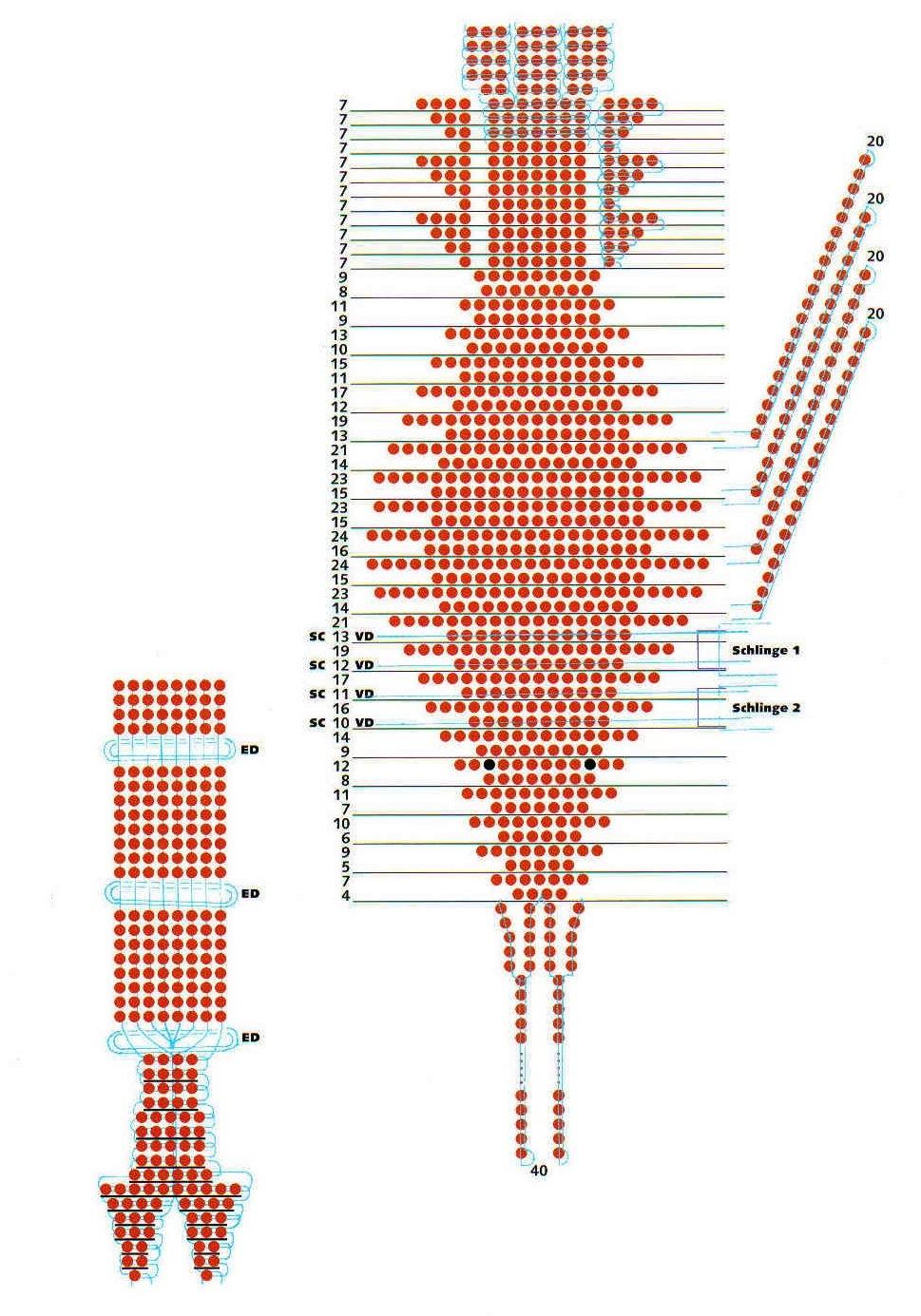 Схема плетения из бисера знаки
