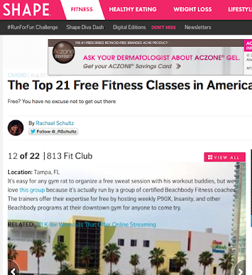 813 Fit Club at Curtis Hixon Park - Free Workout Tampa - Free Bootcamp Tampa - P90X Tampa