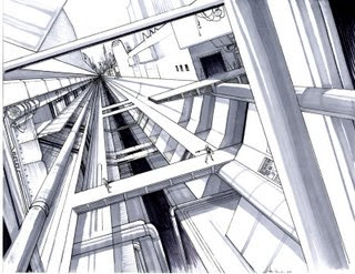 Cool One Point Perspective Drawings Drawing 1: One Point P...