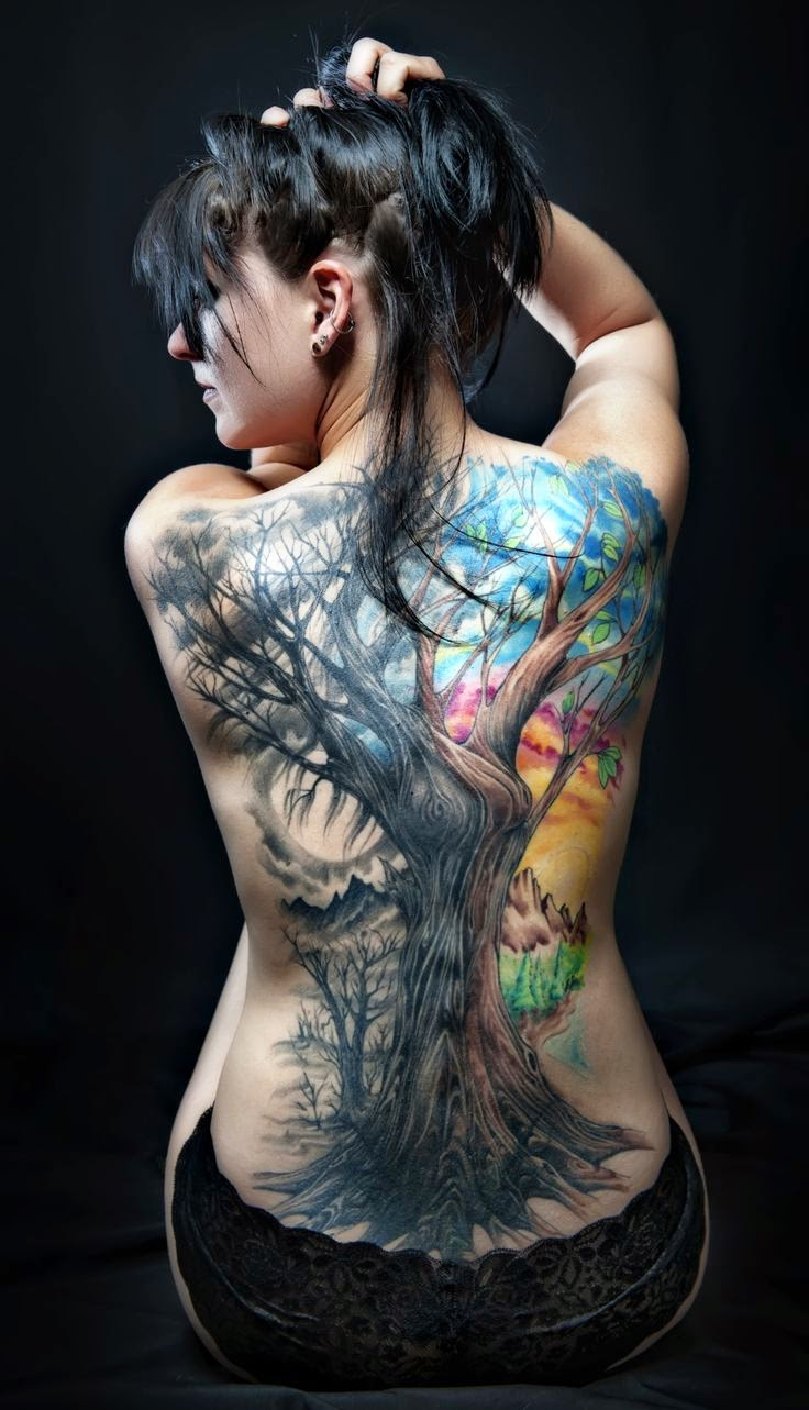 ♥ ♫ ♥  Back Tattoo for Girls ♥ ♫ ♥