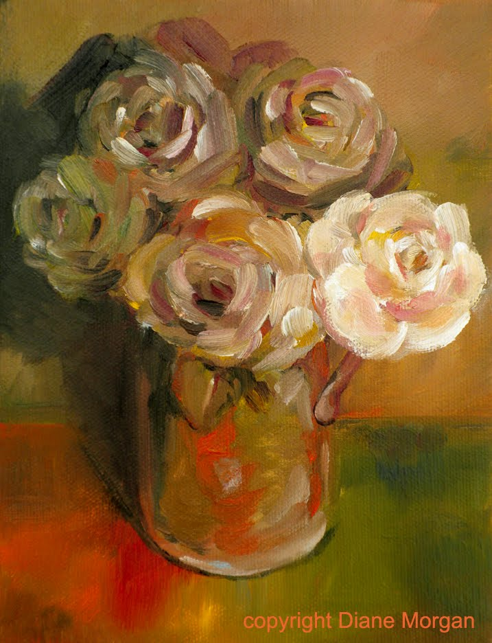Rustic Roses Daily Painting