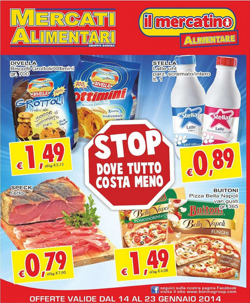 volantino - Mercati Alimentari Offerte dal 14 al 23 Gennaio 2014 ...