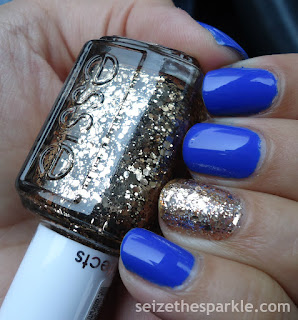Blue & Gold Accent Mani