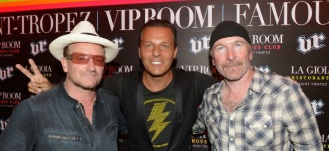 Bono Jean-Roch The Edge U2 rock boite st tropez