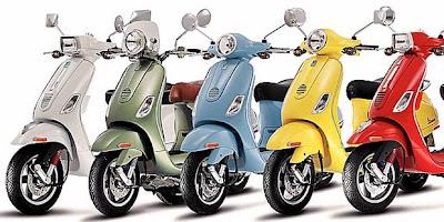 motor Piaggio dan Vespa