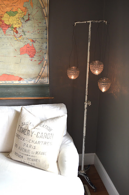Tattered style diy hanging candle holders for Diy hanging tea light candle holders