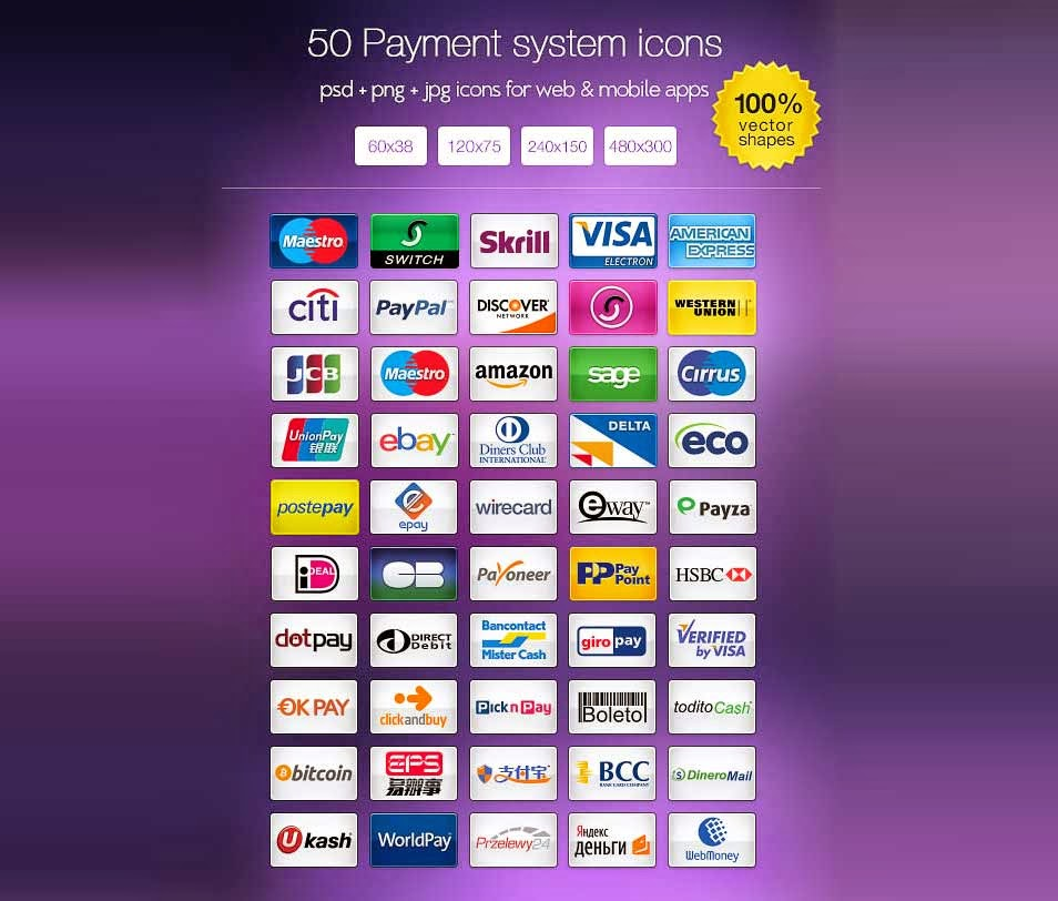 Free Payment System Icon Set
