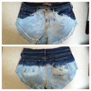diy, bleached, cut shorts, final