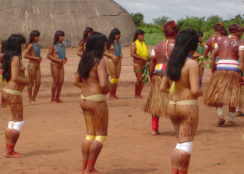 Amazon Xingu Tribe Women Nude