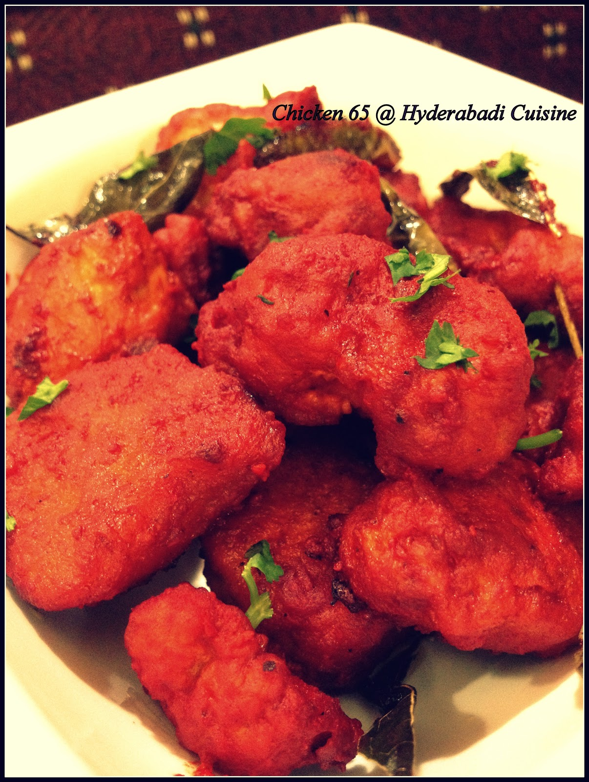 Chicken 65 healthy food kitchen - Hyderabadi Chicken 65