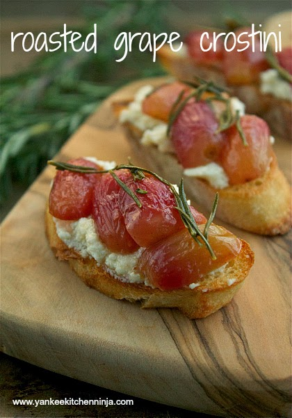 roasted grape crostini appetizer