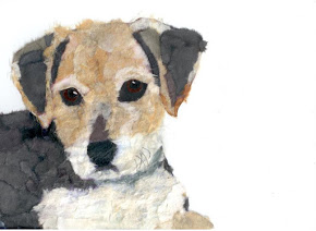 Torn Paper Pet Portrait -Henrie