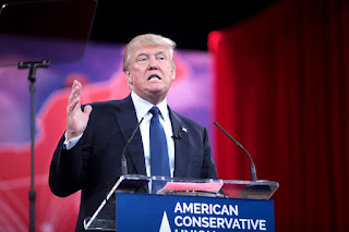 Donald Trump speaking at CPAC 2015 in Washington, DC.