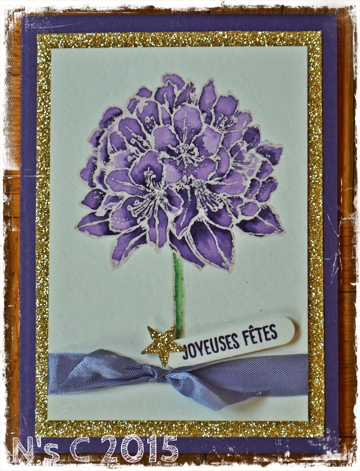 carte de voeux jolie fleur noa 39 s cr as. Black Bedroom Furniture Sets. Home Design Ideas