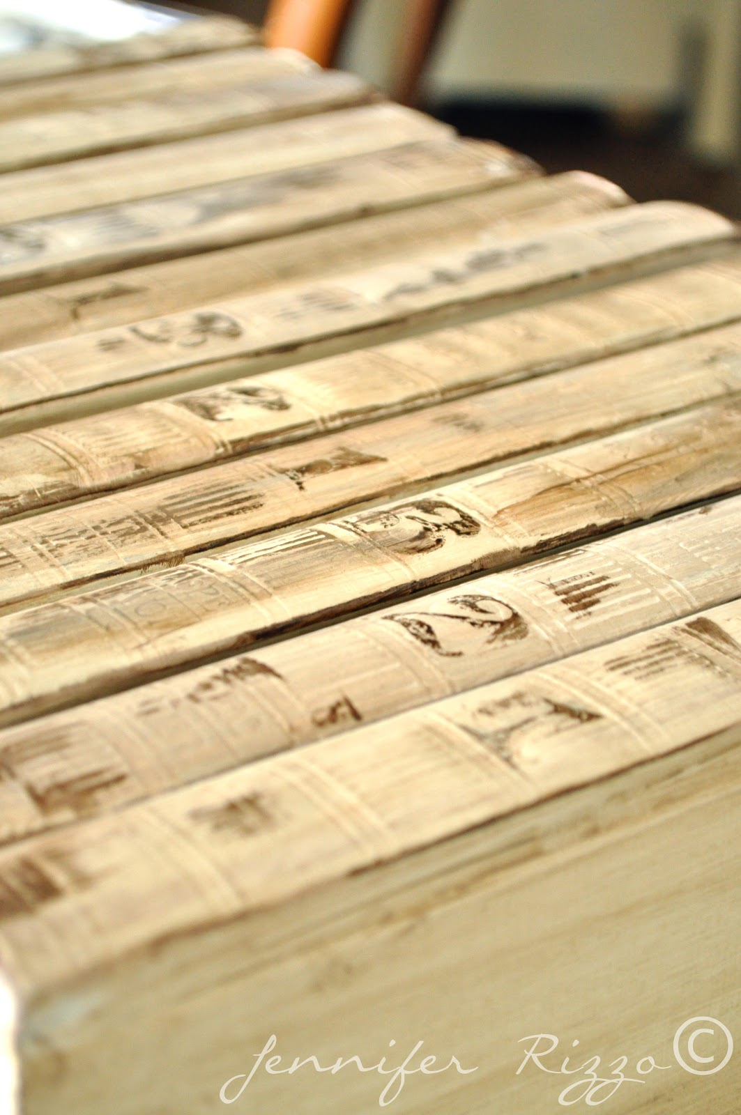 Repurpose old encyclopedia's into aged display books ...