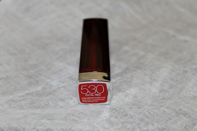 Maybelline Colorsensational Lipstick Shade 530 Fatal Red Blog Review