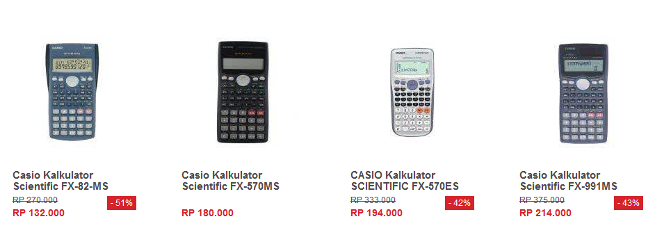Harga Kalculator Casio Scientific