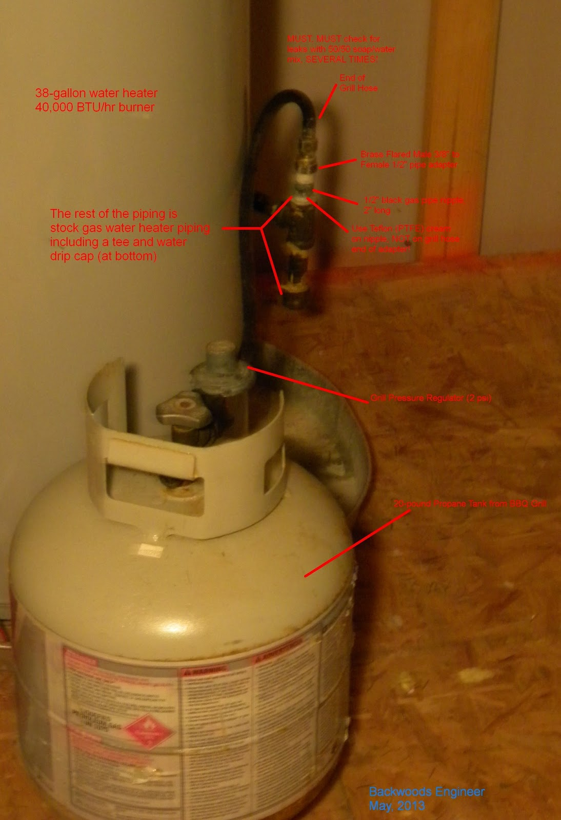 Hook Up Propane Tank To Water Heater
