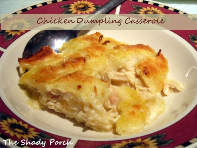 Chicken Dumpling Casserole  #chicken #casserole #dumplings #dinner #easy