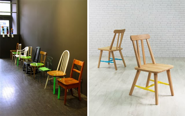 chaises d'artistes