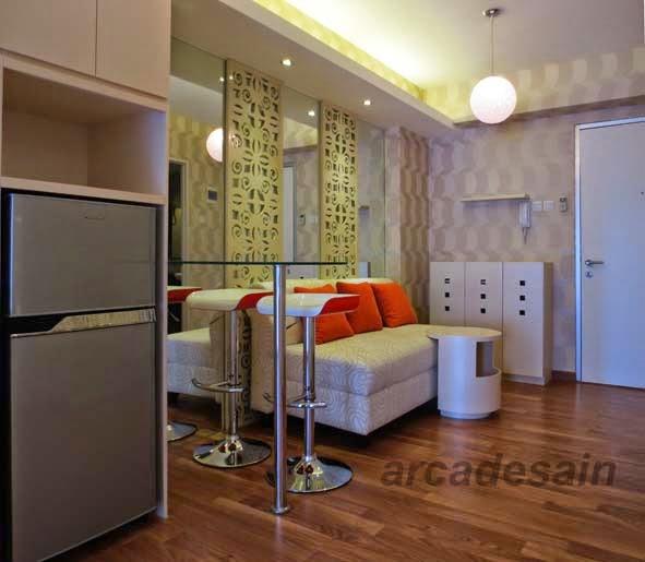 Desain Interior Apartemen Green Bay Bayview Type 2 Bedroom 42 M2 Pluit