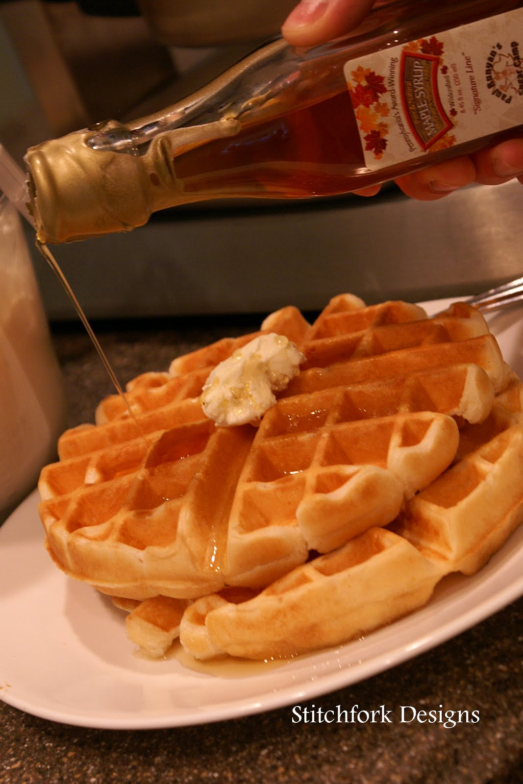 Stitchfork Designs: maple syrup and waffles.....