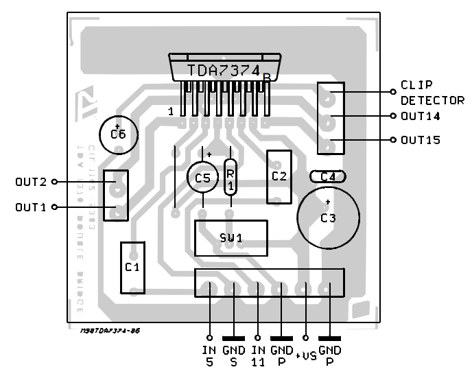 dual bridge audio amplifier for car radio