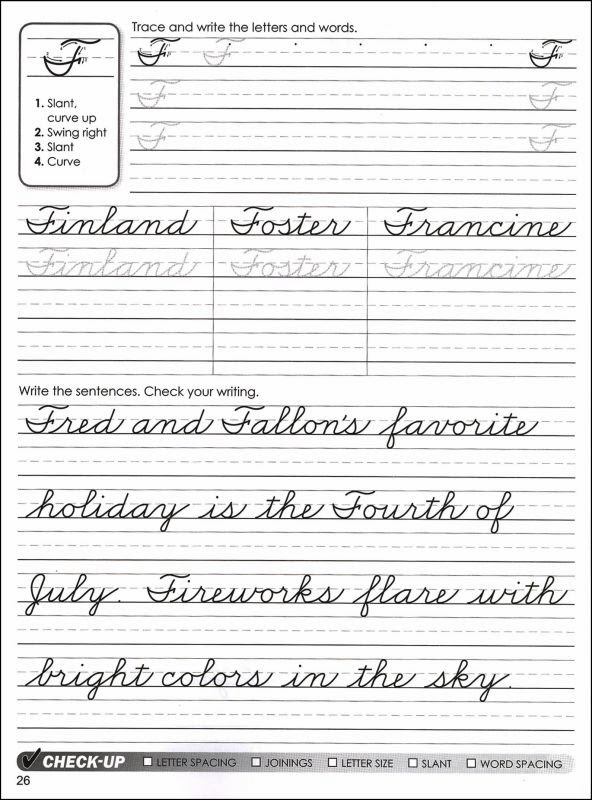 Handwriting sheets ks2 year 5