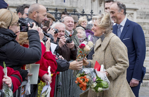 King Albert and Queen Paola, Princess Astrid and Prince Lorenz of Belgium attend the Te Deum Mass on King's Day
