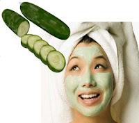face beauty,Tips Fruits,kulit cerah,masker wajah timun