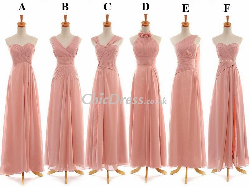 Wedding Dresses For Different Shapes : Offers some beautiful bridesmaid dresses in same color but different