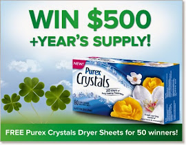 PUREX CRYSTALS DRYER SHEETS SWEEPSTAKES