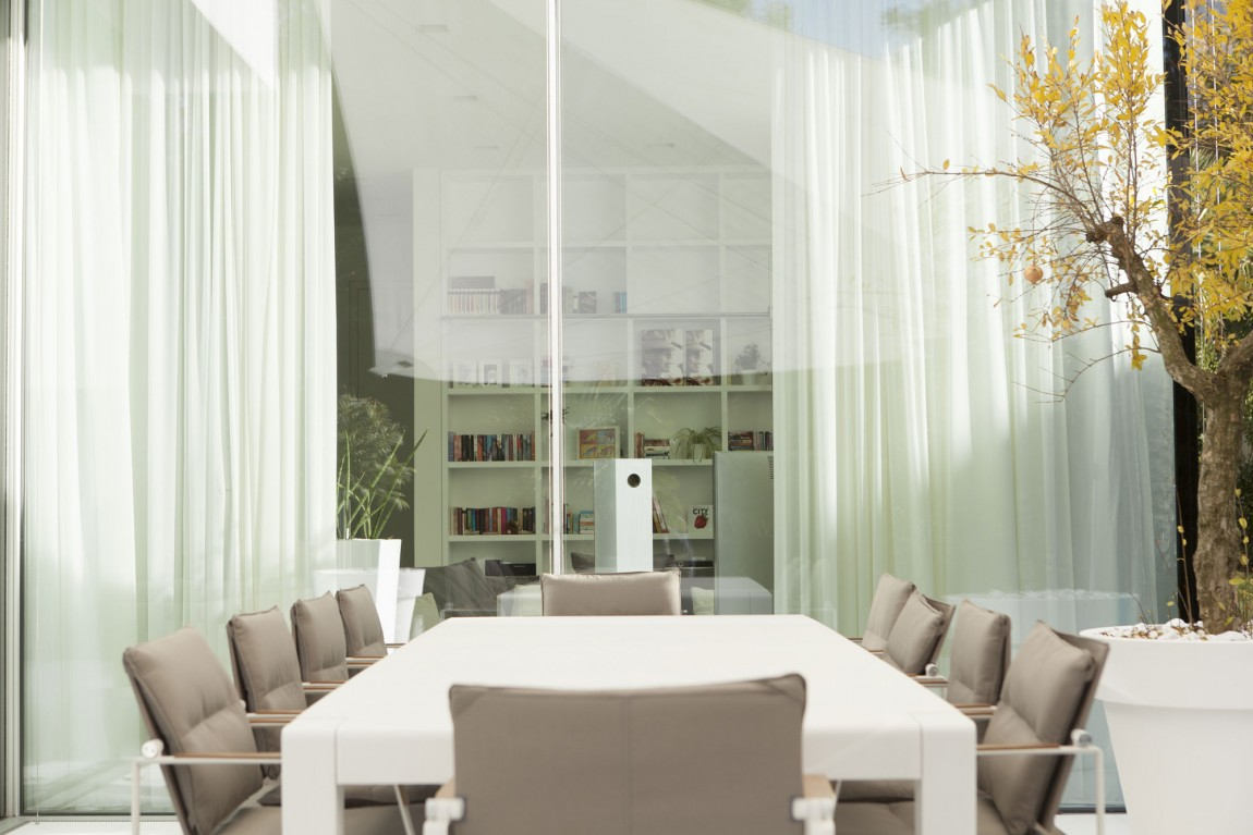 White Dining Table In Room