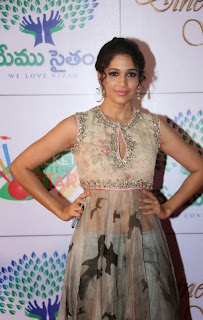 Actress Lavanya Tripathi Latest Pictures in Long Dress at Memu Saitam Dinner with Stars Red Carpet  23
