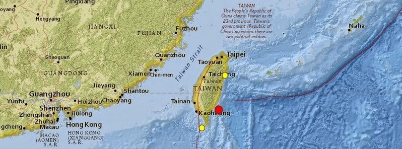 SISMO DE 6,2 GRADOS SACUDE TAIWAN