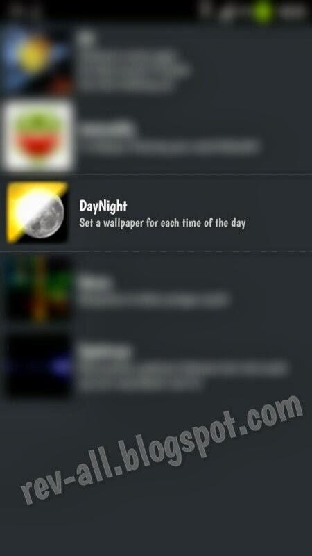 Ikon dan tampilan di daftar live wallpaper android (rev-all.blogspot.com)
