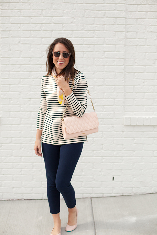 Here&Now: blush pink + navy blue