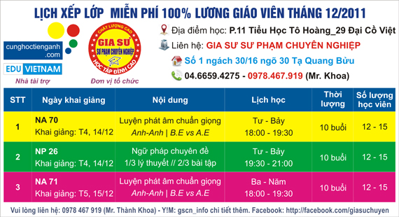 cung hoc tieng anh