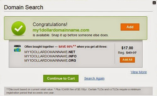 GoDaddy Cheap Domain