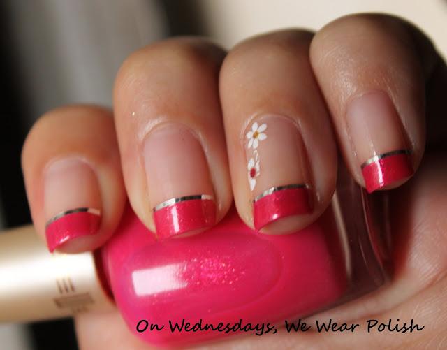 On Wednesdays, We Wear Polish : Pretty in Pink ! (French Mani)