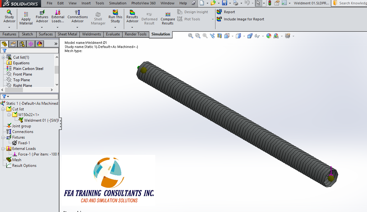 solidworks simulation meshing
