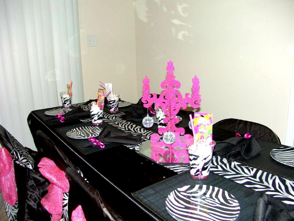 my creative way zebra spa party decorating ideas