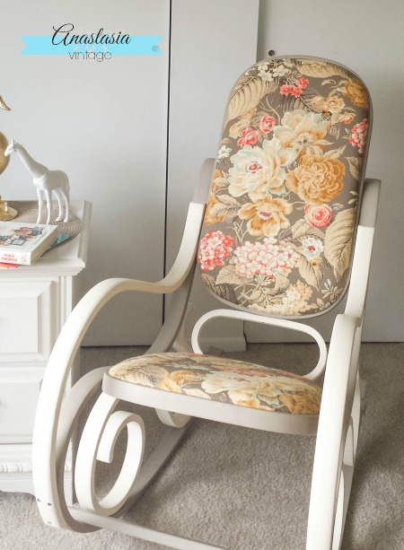 bentwood rocking chair baby vintage nursery child's bedroom