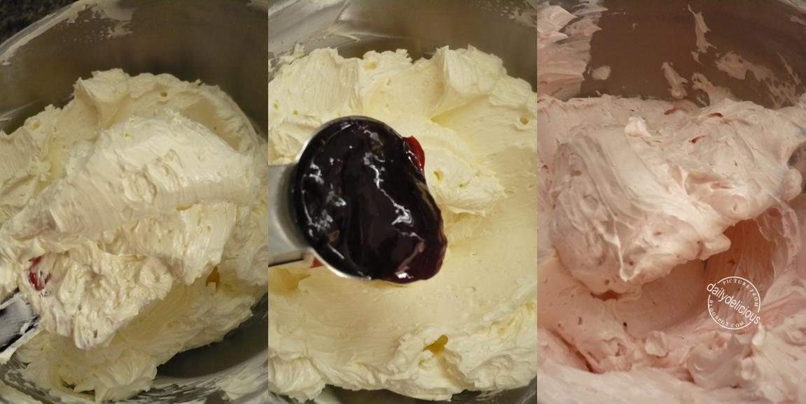After all the butter is fully incorporated, add the raspberry jam and ...