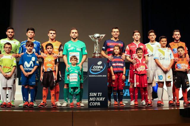 FÚTBOL SALA - Copa de España 2016 (Guadalajara). Sorteo de los cuartos de final